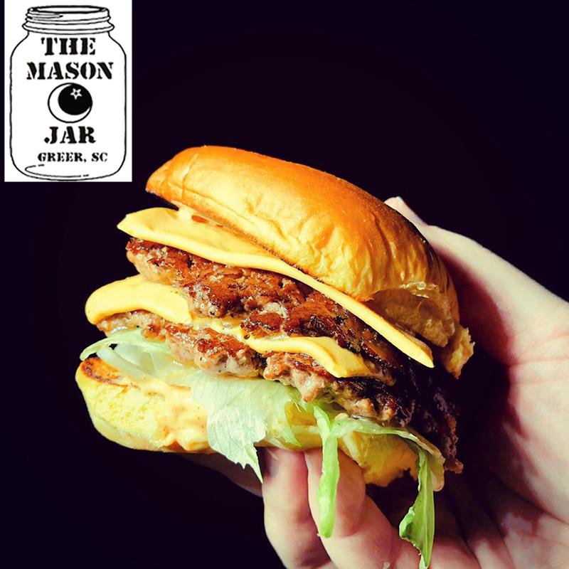 burger w logo